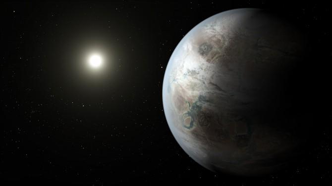 지구형 행성 '케플러-452b'의 상상도. - NASA 제공